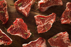 Raw Red Lamb Chops Stock Images