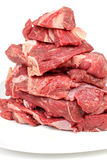 Raw red meat. Color photo of fresh raw meat Stock Images