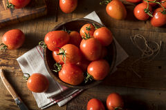Raw Red Organic Roma Tomatoes Royalty Free Stock Photo