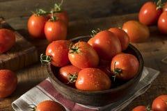 Raw Red Organic Roma Tomatoes Stock Photos
