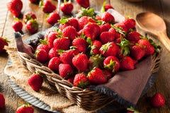 Raw Red Organic Strawberries Royalty Free Stock Photo