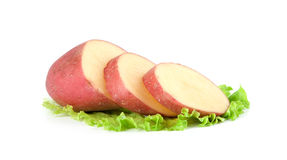 Raw red potatoes Royalty Free Stock Photo