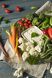 Raw Refreshing Vegetable Crudites Plate. With Ranch Dip Stock Images