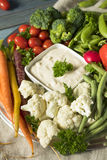 Raw Refreshing Vegetable Crudites Plate. With Ranch Dip Stock Photo