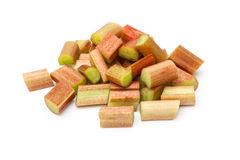 Raw rhubarb pieces Stock Photography