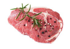 Raw rib-eye steak Royalty Free Stock Photography