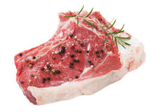 Raw rib-eye steak Royalty Free Stock Photos