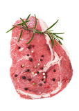 Raw rib-eye steak Stock Images