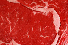 Raw rib-eye steak macro Stock Photo