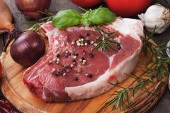 Raw rib-eye steak Stock Photo