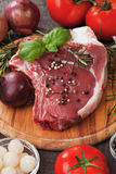 Raw rib-eye steak Stock Image
