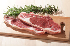 Raw rib steaks Royalty Free Stock Photography