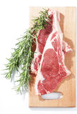 Raw rib steaks Stock Photo