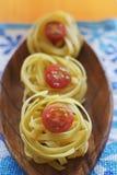 Raw ribbon pasta Stock Photography
