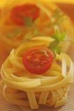 Raw ribbon pasta Royalty Free Stock Photo