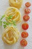 Raw ribbon pasta Royalty Free Stock Images