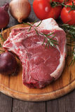 Raw ribeye steak Royalty Free Stock Photos