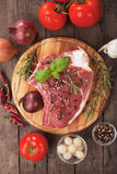 Raw ribeye steak Royalty Free Stock Photo