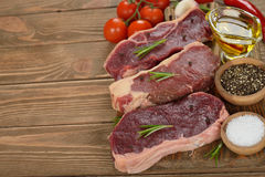 Raw ribeye steak Royalty Free Stock Photography