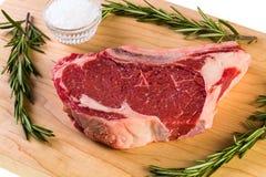 Raw Ribeye Steak Royalty Free Stock Photos