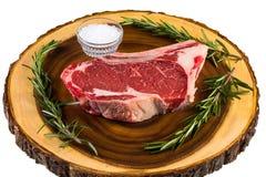 Raw Ribeye Steak Stock Photos