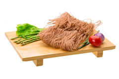 Raw rice noodles Stock Images