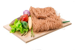 Raw rice noodles royalty free stock photos