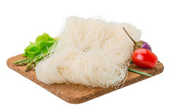 Raw rice noodles stock image