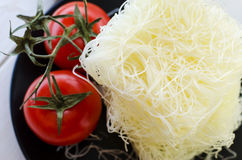 Raw rice noodles Royalty Free Stock Photo