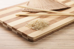 Raw rice ready to be cooked Stock Images