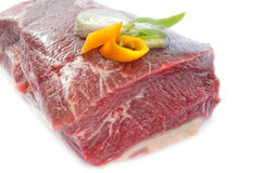 Raw roast beef Royalty Free Stock Photos