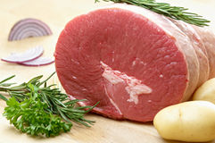 Raw roast beef Stock Images
