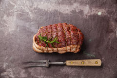 Raw roast beef Rump stock image