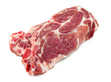 Raw rump steak isolated on white. Background Stock Photos