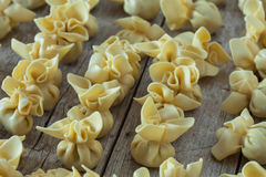 Raw Saccottini Pasta Stock Images