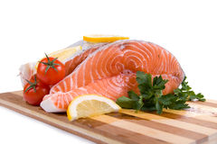 Raw salmon Royalty Free Stock Photos
