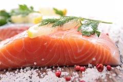 Raw salmon Stock Images
