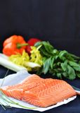 Raw salmon Stock Images