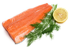 Raw salmon. Ready for cookig, isolated Stock Photo