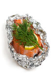 Raw salmon Stock Photos