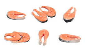 Raw salmon collage Royalty Free Stock Photography