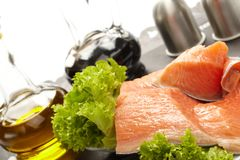 Raw salmon fillet Royalty Free Stock Photo