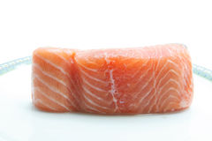 Raw salmon fillet Stock Image