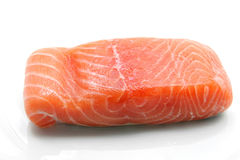 Raw salmon fillet royalty free stock photos