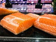 Raw salmon fillet. Fresh fish, Salmon sachimi royalty free stock photo