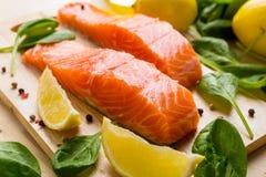Raw Salmon Fillet Stock Photos