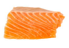 Raw salmon fillet isolated on a white background. Raw salmon fillet isolated on white background Stock Photos