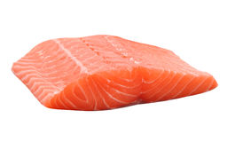 Raw salmon fillet Stock Image