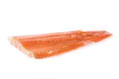 Raw salmon fillet isolated. On white background Royalty Free Stock Photos