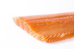 Raw salmon fillet isolated. On white background Stock Photography